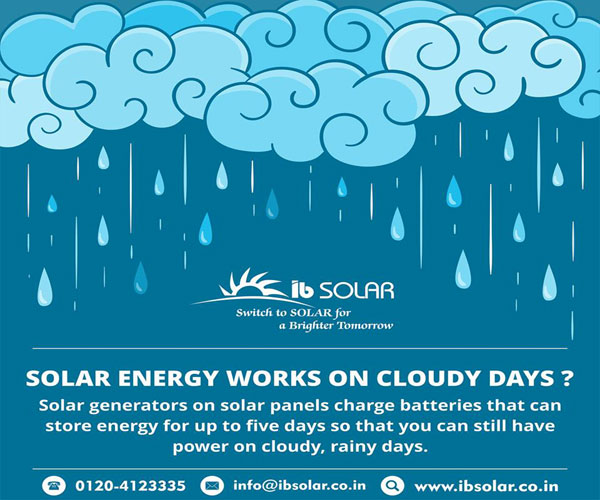 SOLAR ENERGY WORKS ON CLOUDY DAYS ?