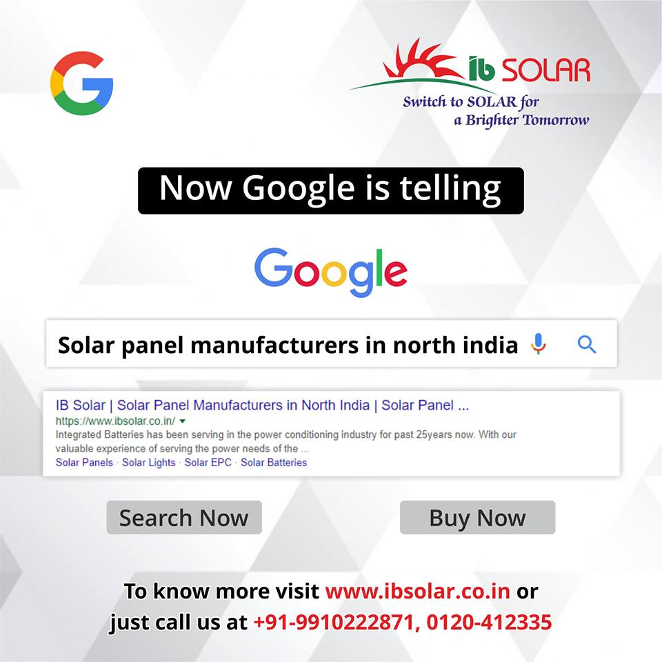 IB Solar is the Solar Panels Manufacturers in North India