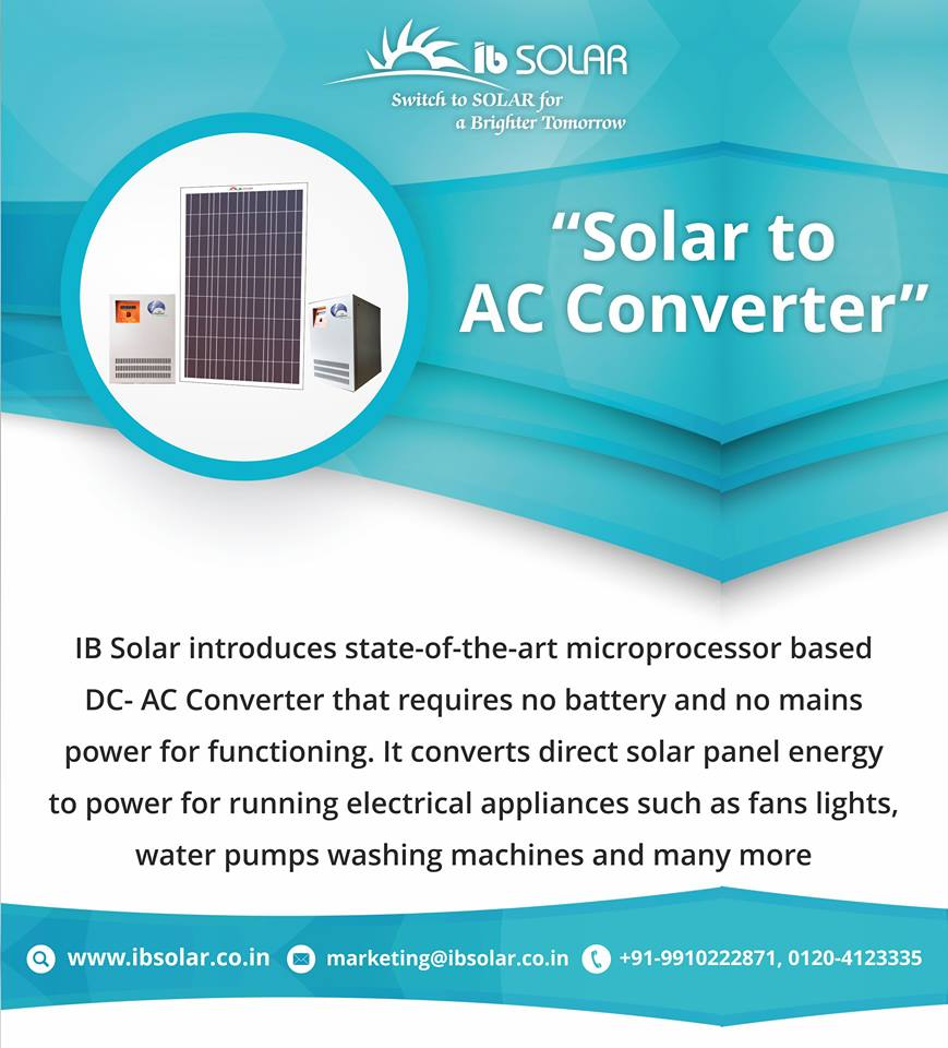IB Solar Introduces State of The art Microprocessor-Based DC-AC converter