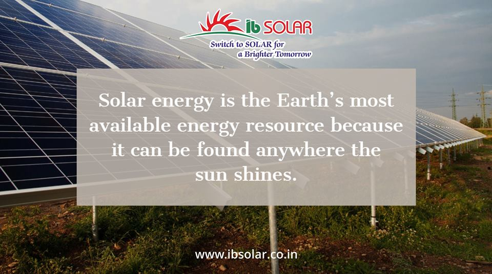 Solar Energy is the Earth's most available Energy Resource