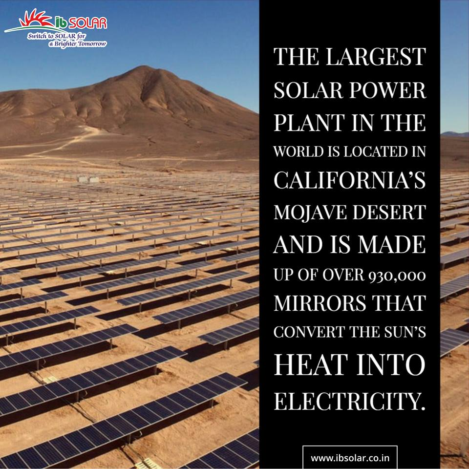 The largest solar power plant