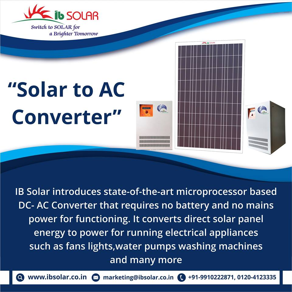 IB Solar introduces state of the art microprocessor based DC-AC converter
