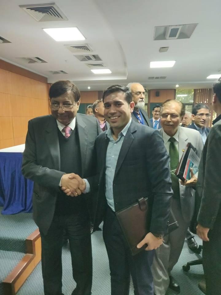 Mr. Abhinav Mahajan withAmity UniversityFounder – Dr. A.K. Chauhan