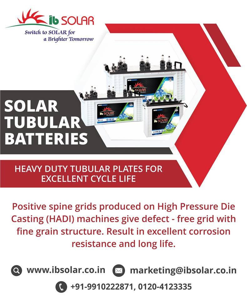 Solar Tubular Batteries in Noida