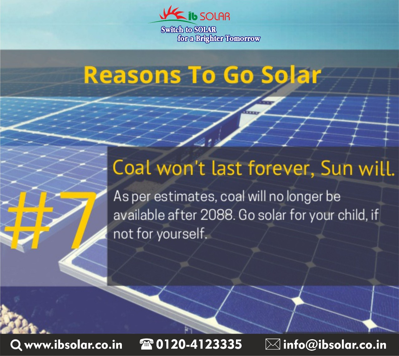 7 Coal won't last forever, Sun will.