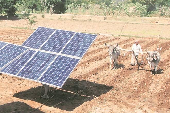 Linking solar energy with agriculture in India