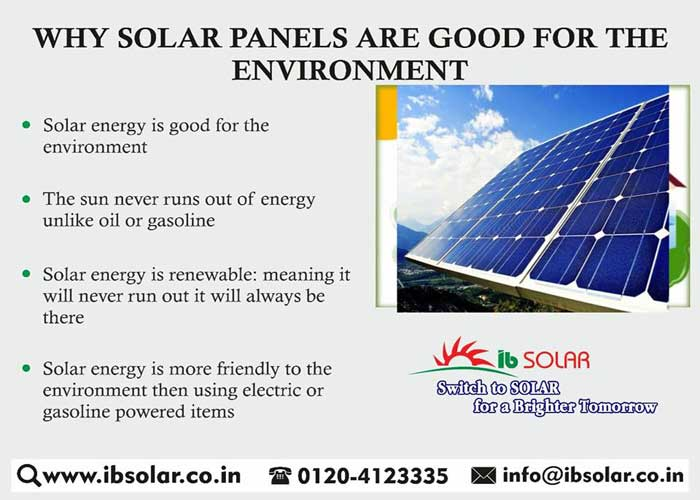 Why Solar Panels Are Good For The Environment