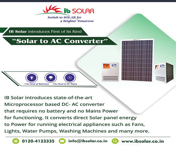 IB Solar introduces state of the art microprocessor