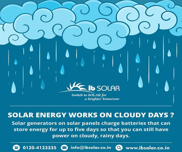 SOLAR ENERGY WORKS ON CLOUDY DAYS ?