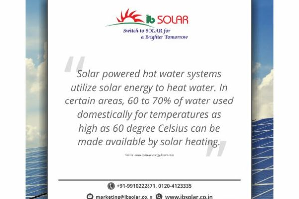 Solar powered hot water systems utilize solar energy to heat water.