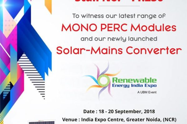 IB Solar Cordially invites you to visit our Stall No. - 11.236