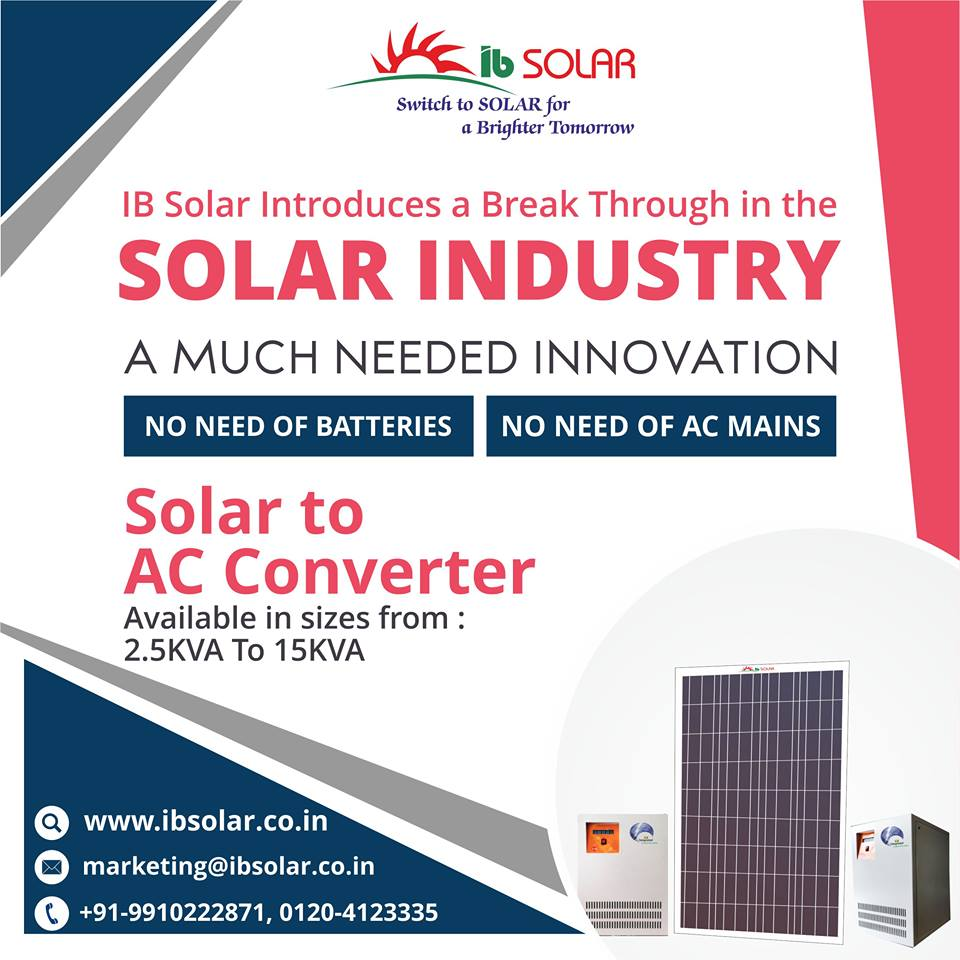 IB Solar Introduces a Break Through in the Solar Industry.