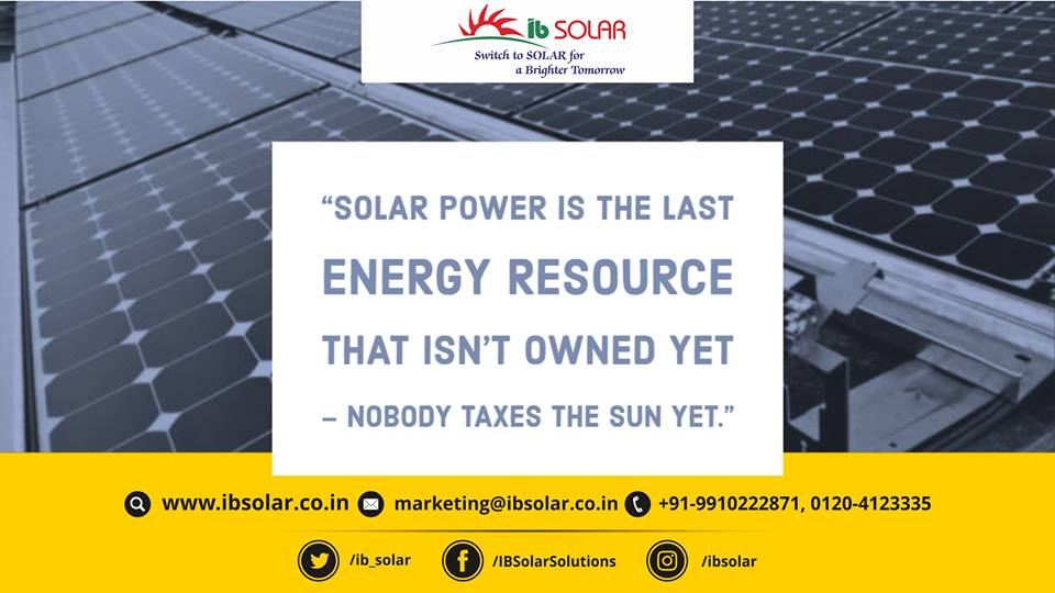 Solar Power is the Last Energy Resource