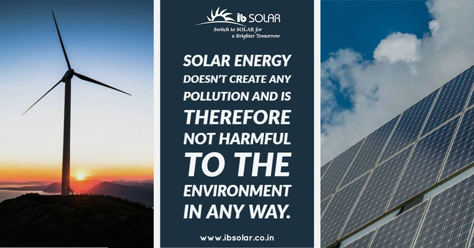 Solar Energy Doesn't Create Any Pollution