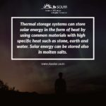Thermal storage Solar Energy
