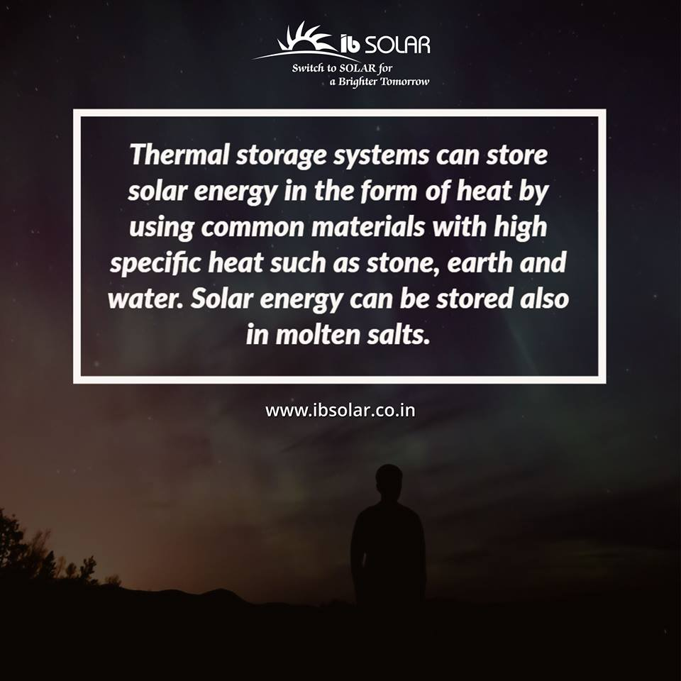 Thermal Storage Systems can Store Solar Energy