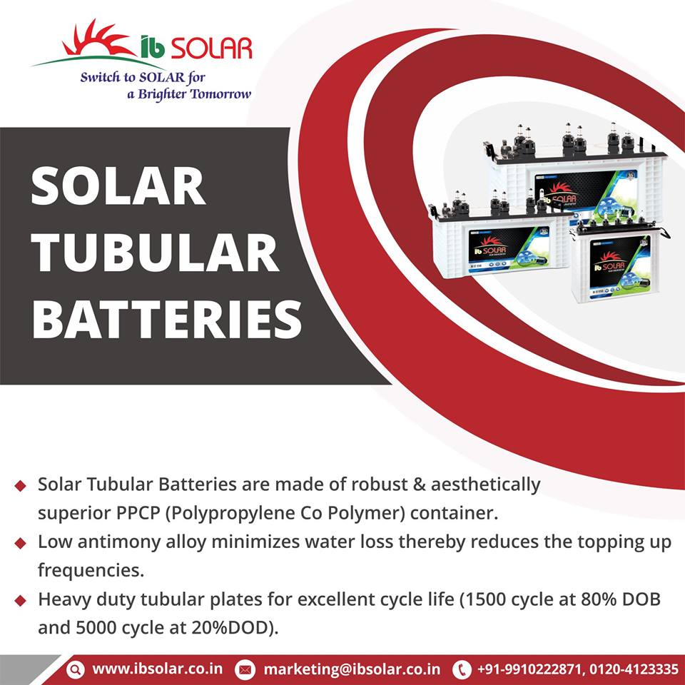 Solar Tubular Batteries in in india
