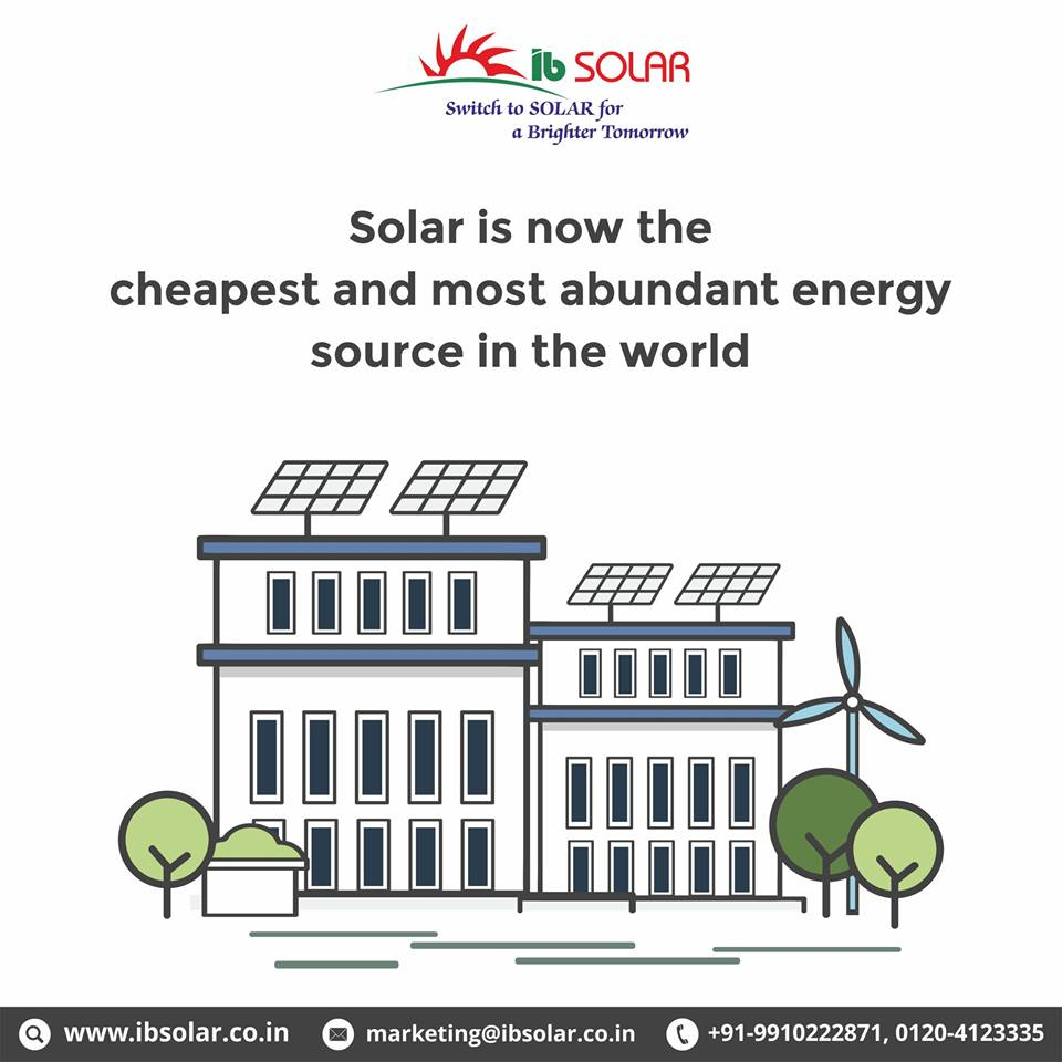 Solar is Now the Cheapest and Most Abundant Energy Source in the World.