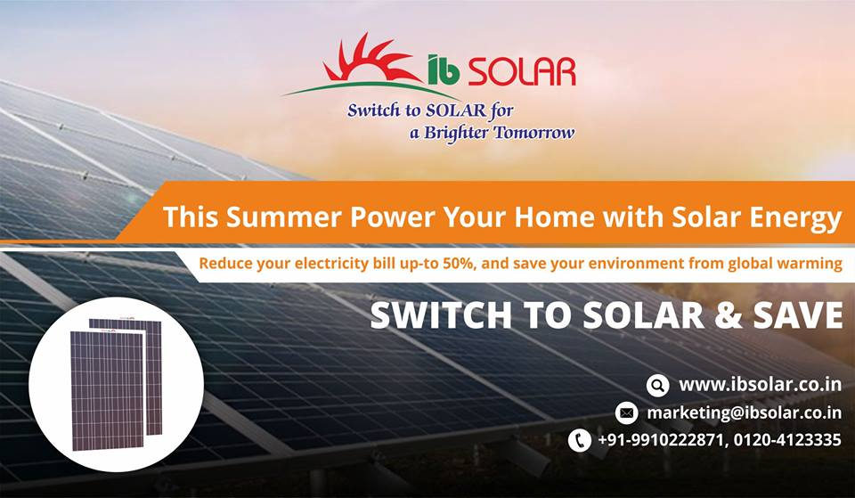 This summer power your home with Solar Energy.