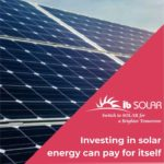 Investing in solar energy can pay for itself