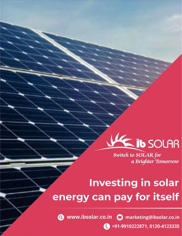 Investing in Solar Energy can pay for itself !!