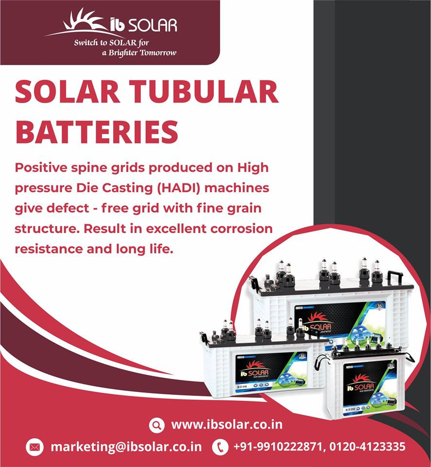 SOLAR TUBULAR BATTERY IN INDIA