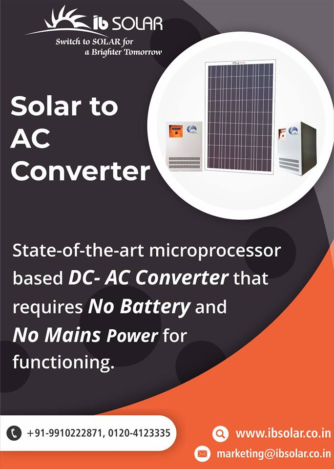 Solar DC to AC Converter in India