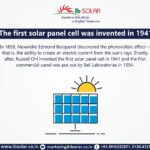 The first Solar Panel Cell was invented in 1941 - IB Solar